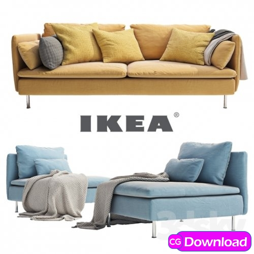 Download Free 3D Templates, Characters, 3D Building And More ! | Download  IKEA SODERHAMN SOFA 3d Model Free - Download Free 3D Templates, Characters,  3D Building And More !